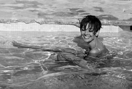 Audrey Swims Black & White