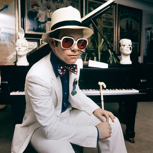 Elton John at his home in Windsor