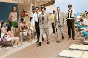 Frank Sinatra Boardwalk, colourised