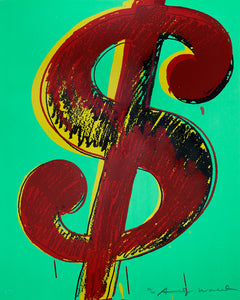 Complete Set of 6 Dollar sign screen prints