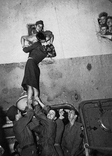 Marlene Dietrich Greeting the Troops