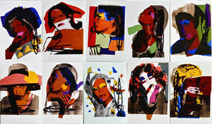 "Andy Warhol ""Ladies and Gentleman"" Invitation cards set of 10 Handsigned"