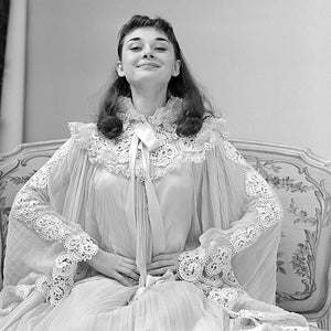 Audrey Hepburn happy Lace Nightgown