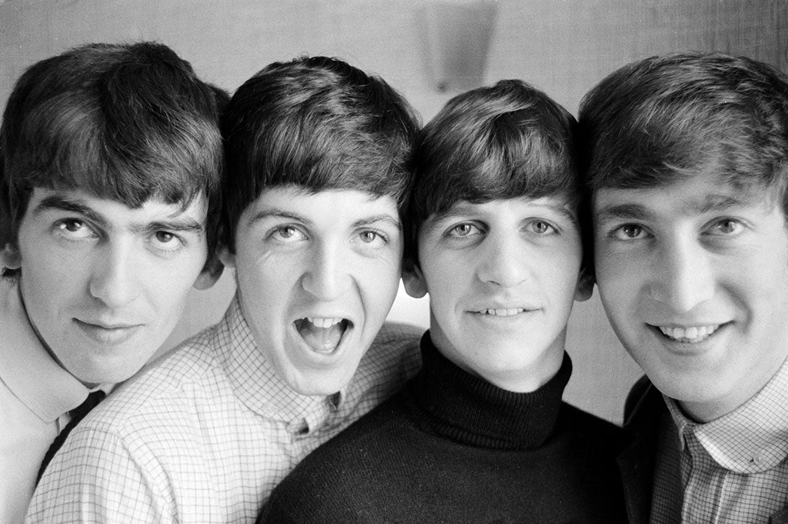 The Beatles Smiling