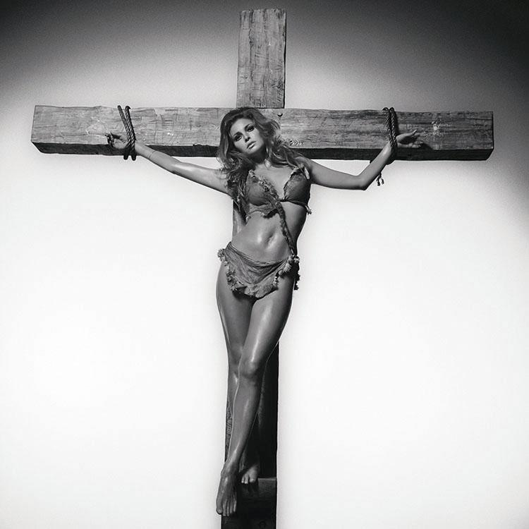 Raquel Welch On The Cross