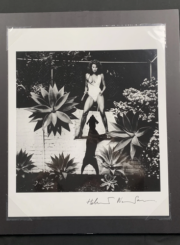 Raquel Welch with Dog, 1980 (Hand Signed)