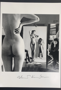 Self Portrait with Models and June (Hand Signed)