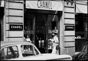Coco Chanel on the street, Paris