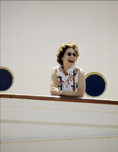 The Queen on Board of Britannia