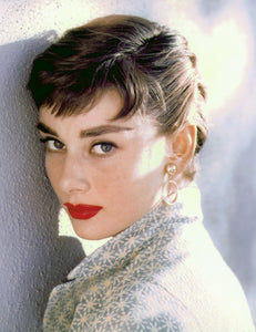 Audrey Hepburn red lips