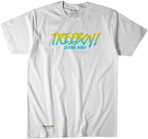 2 TONE LOGO T-SHIRT (YELLOW MINT)