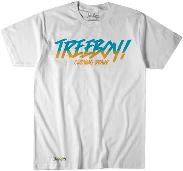 TWO-TONE TREEBOY LOGO WHITE TEE