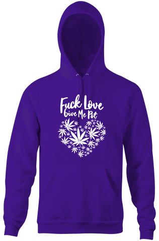 F LOVE HOODIE (purple w/ white print)