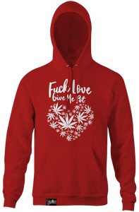 F LOVE HOODIE (green w/ white print) - TREE BOY CLOTHING BRAND