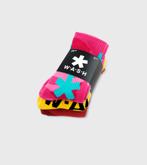 Multicolor 3 Pack Crew Sock