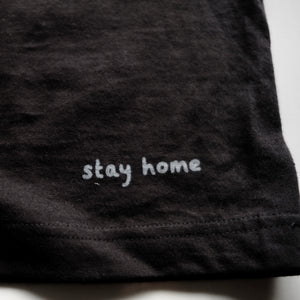 stay home Organic cotton T-shirt ・Black