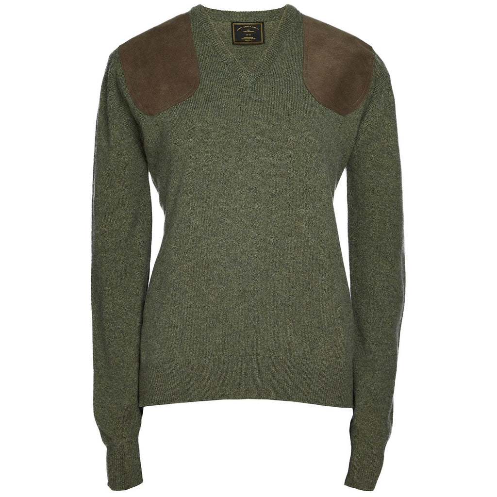 V Neck Shooting Sweater