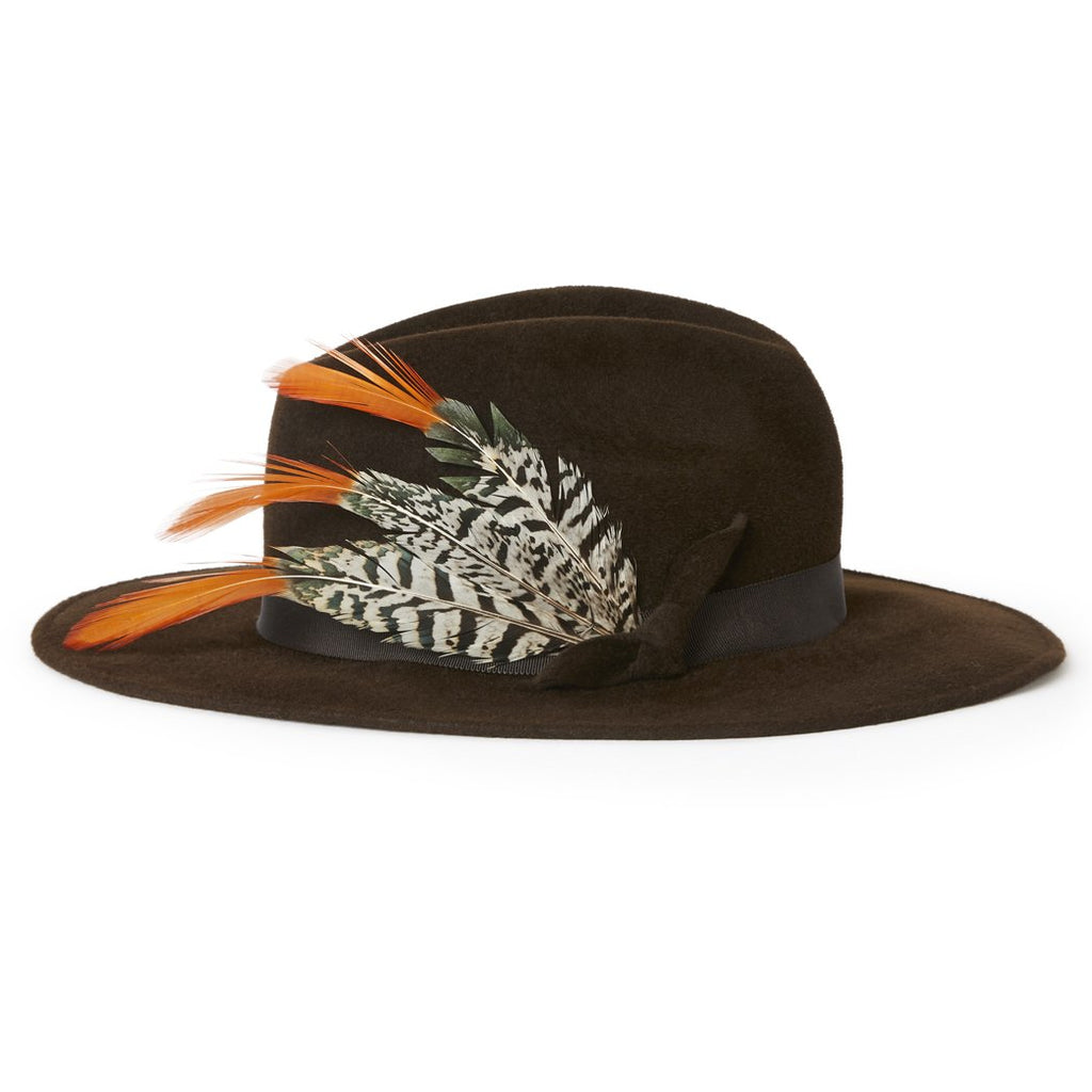 Fedora with Leather Trim