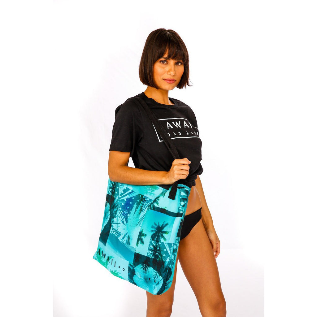 Palm Print Beach Bag