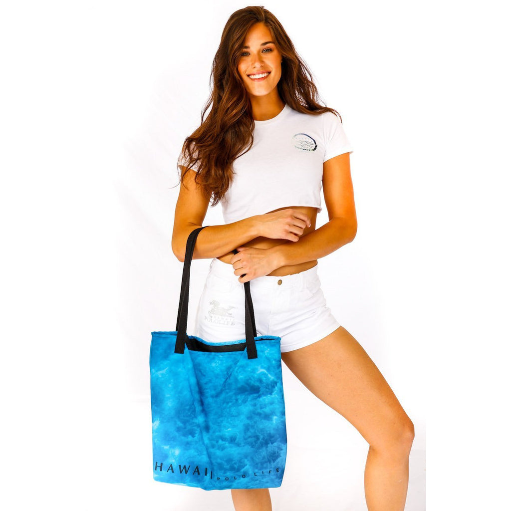 Water Print Beach Bag