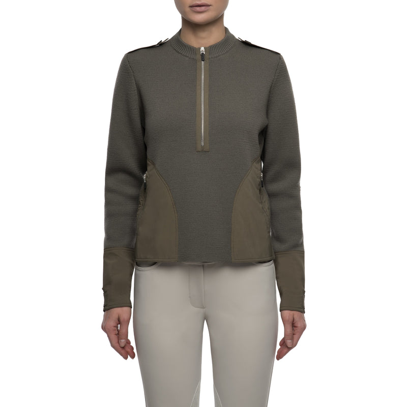 Clover Military Wool Sweater (Sage)