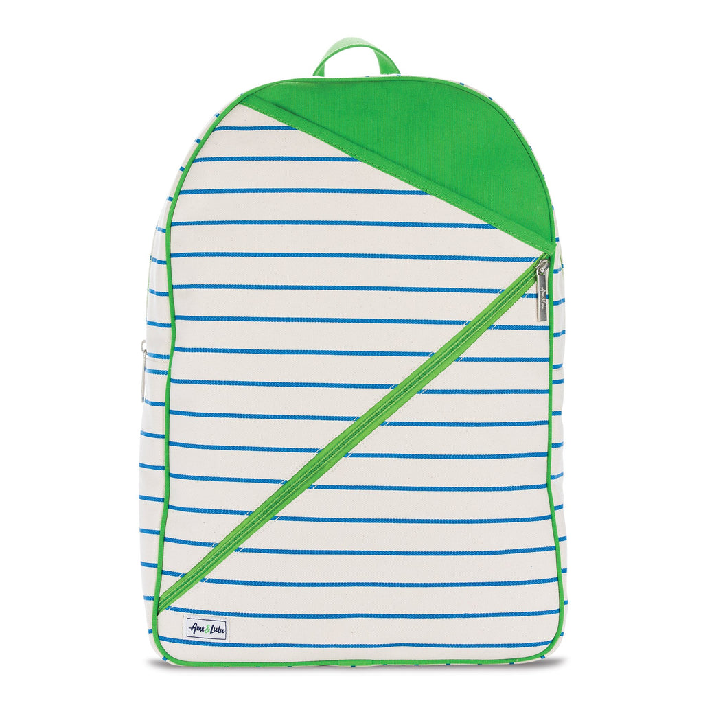 Cross Court Tennis Backpack (Natural w Blue & Green)