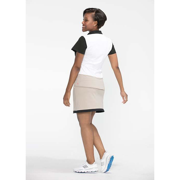 Angles and Curves Shortsleeve Golf Top (White)