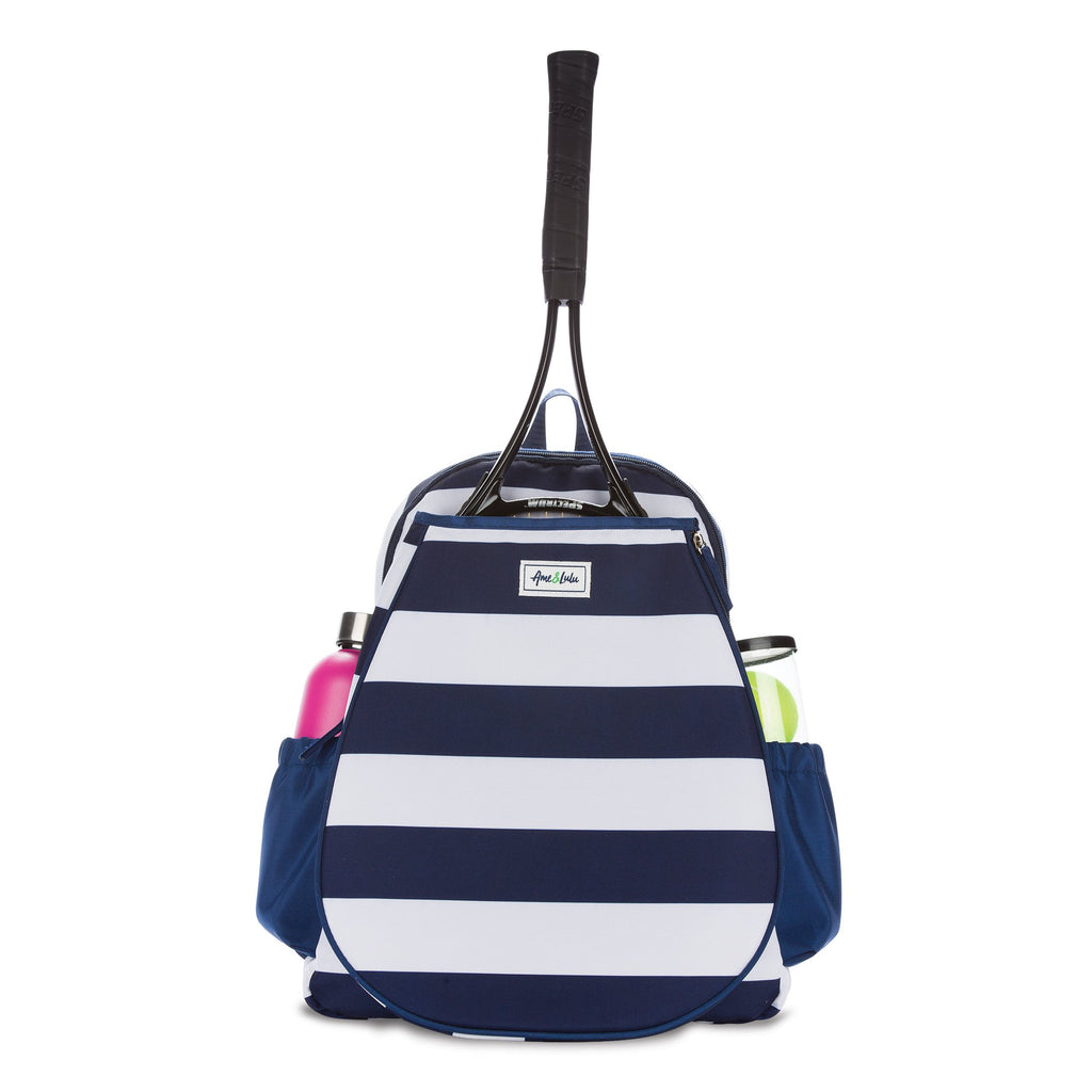 Game On Tennis Backpack (Navy & White)