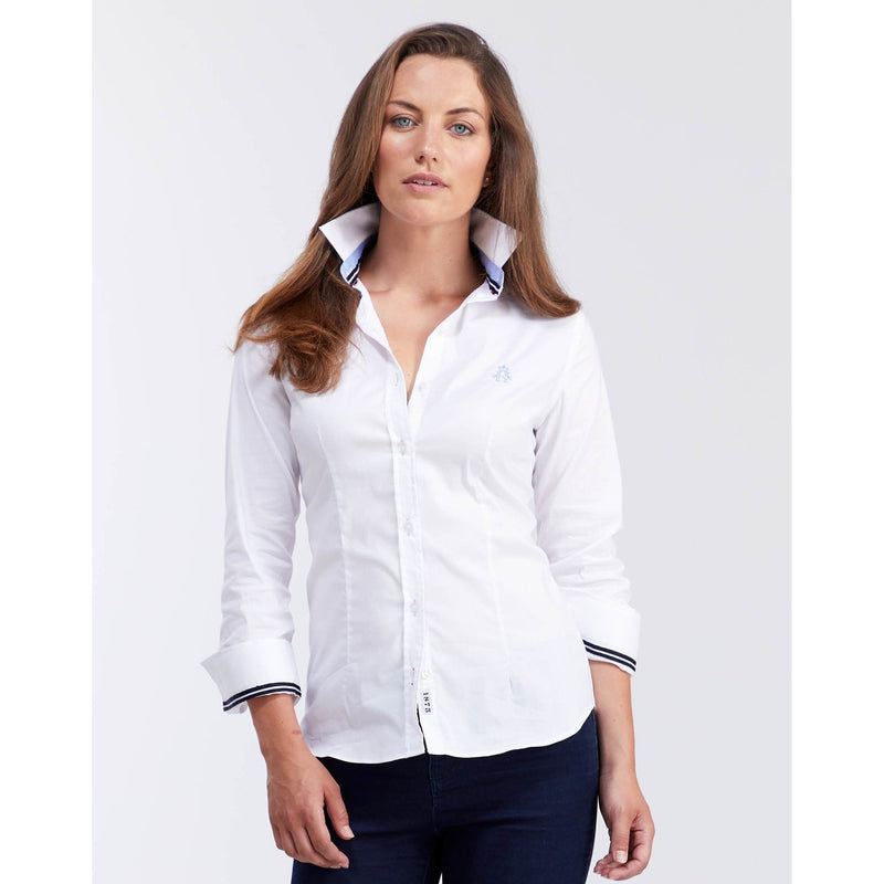 Classic Oxford Stretch (White)