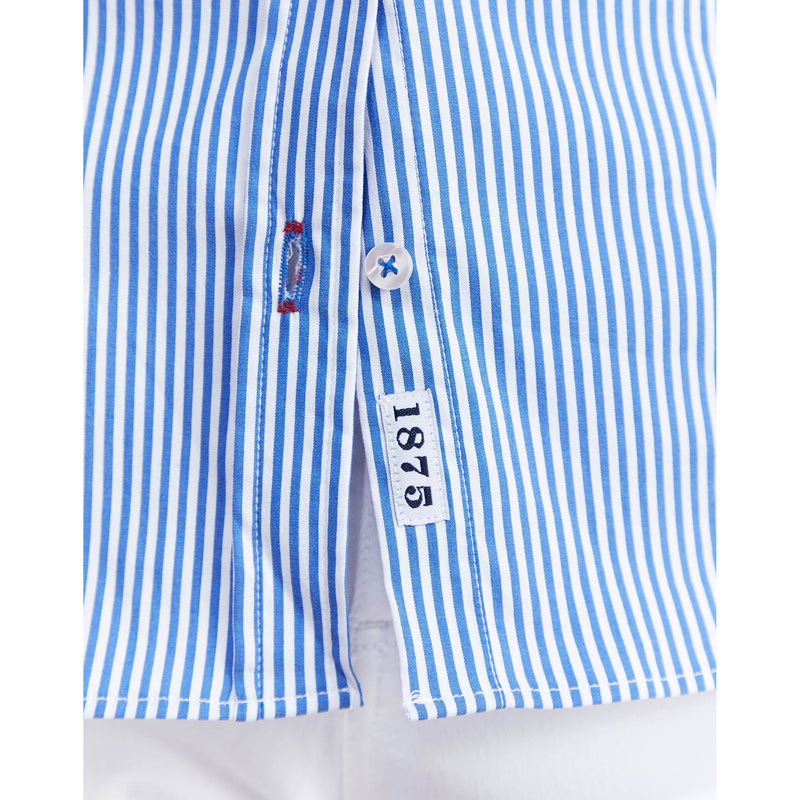 Classic Oxford Stretch (Blue Stripe)