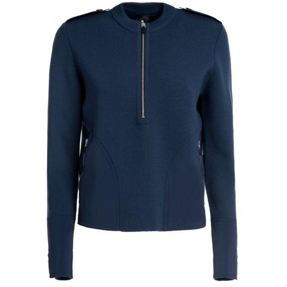 Clover Military Wool Sweater (Navy)