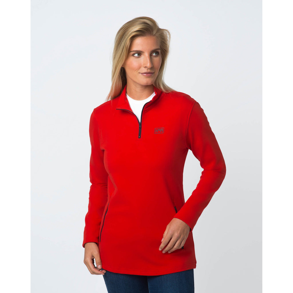 Quarter Zip Mid Layer (Red)