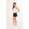 Grand Slam Pleat-Back Skirt (Black)