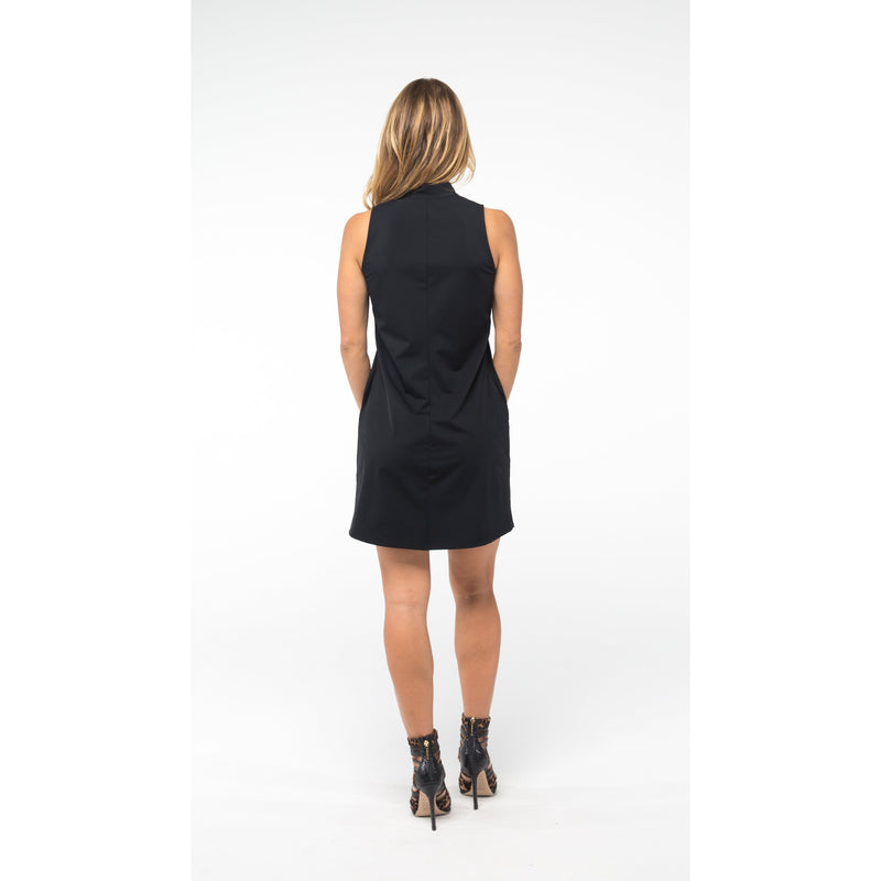 Course-to-Cocktails Sleeves Petite Dress (Black)