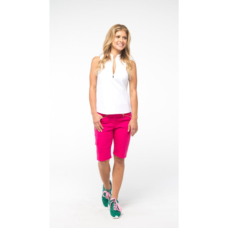 Course-to-Cocktails Sleeveless Petite Top (White)