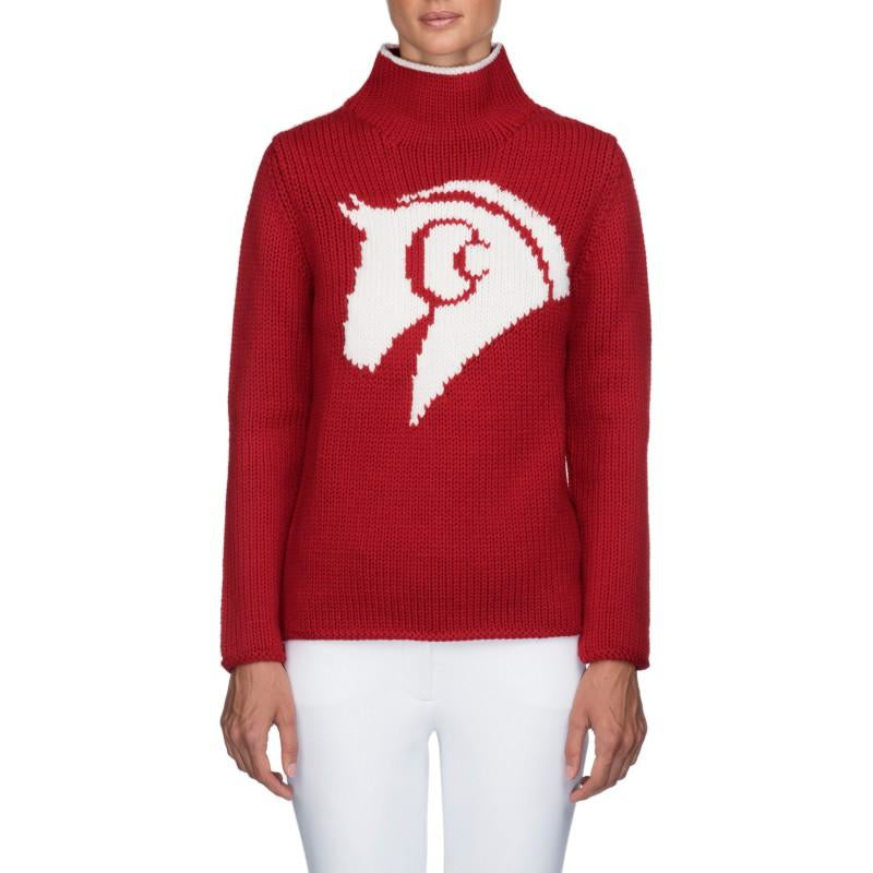 Sassy Merino Wool Sweater (Red)