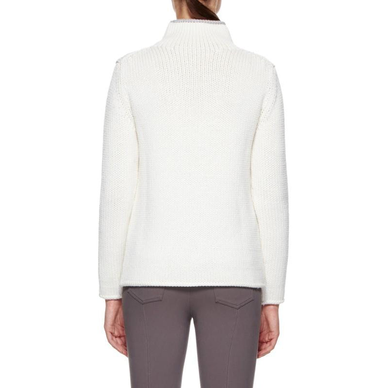 Sassy Merino Wool Sweater (White)