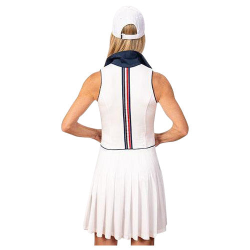 Natalie Sleeveless Golf Dress (White)