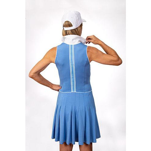 Natalie Sleeveless Golf Dress (Periwinkle)
