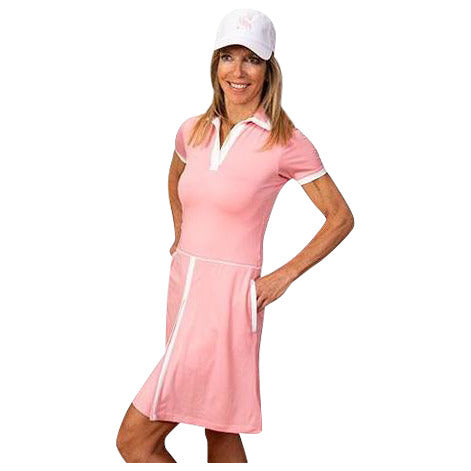 Sheila Short Sleeve Golf Dress (Pink)