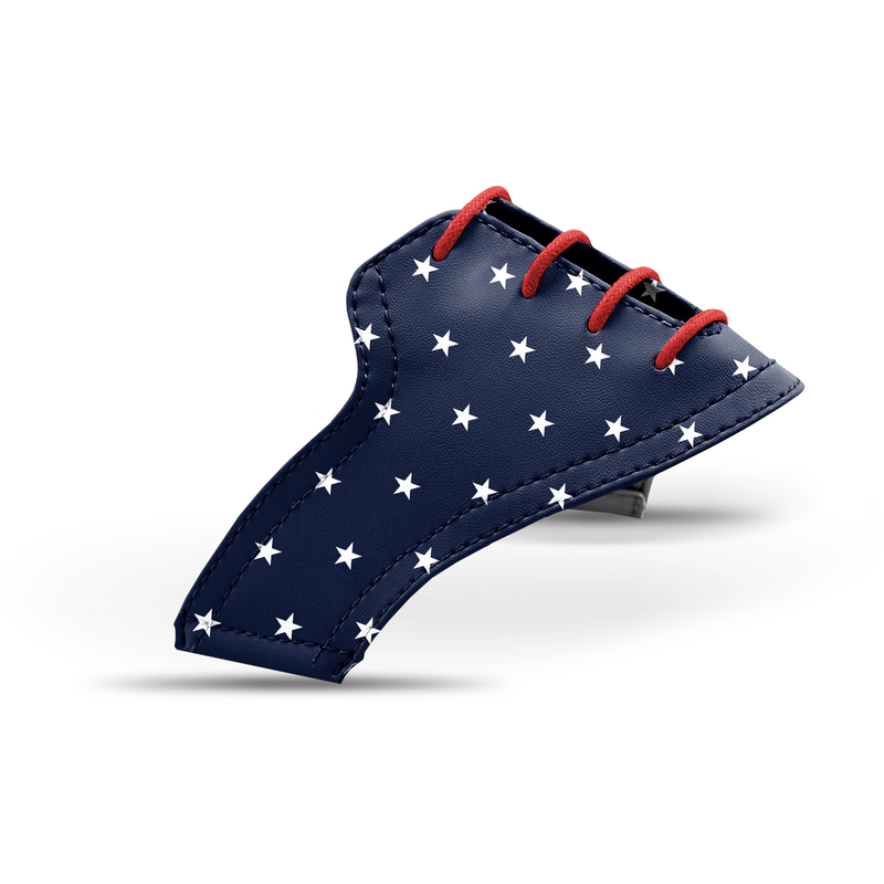 Interchangeable Golf Shoe Saddle (Stars Saddles w Red Laces)
