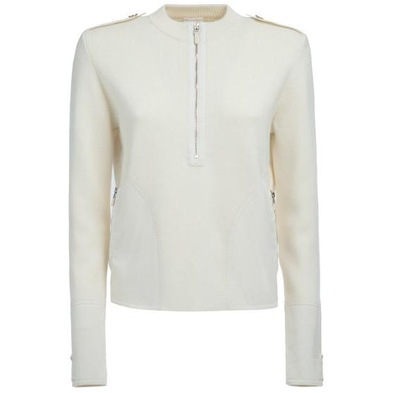 Clover Military Wool Sweater (Off White)