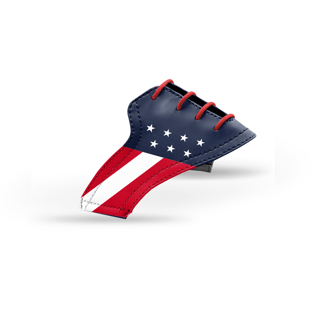 Interchangeable Golf Shoe Saddle (USA Flag Saddles w Red Laces)