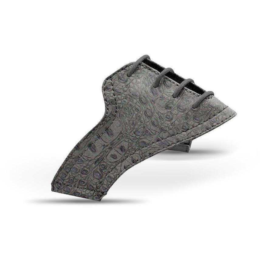 Interchangeable Golf Shoe Saddle (Charcoal Crocodile Saddles w Laces)