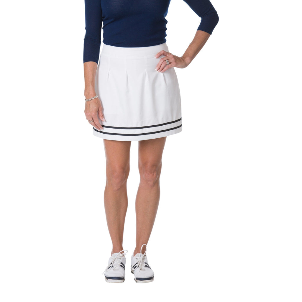 Classic Pleated Skort (White)