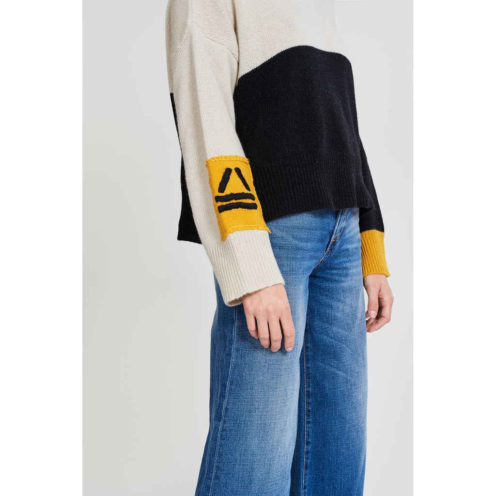 Horizon Yellow Cropped Sweater