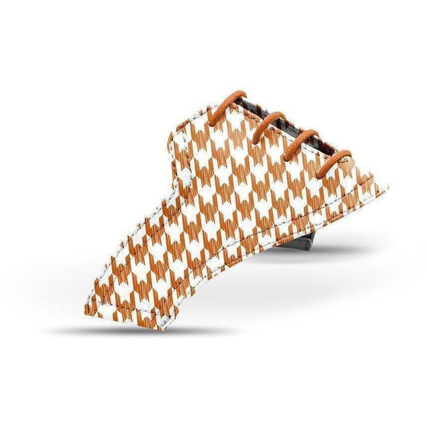 Interchangeable Golf Shoe Saddle (Warm Houndstooth)