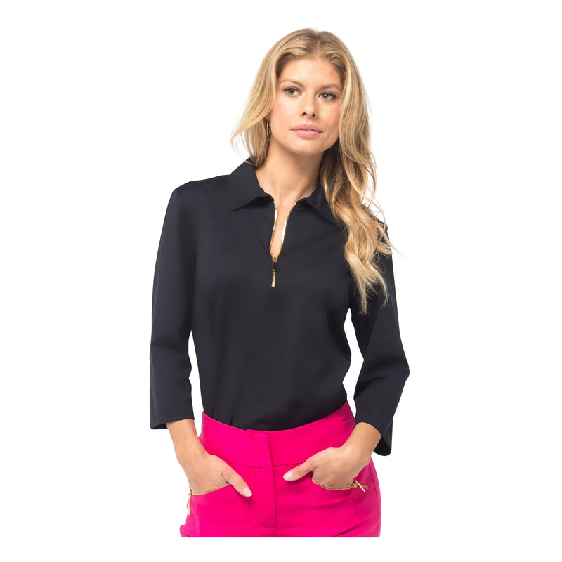 Nancy Petite Top (Black)