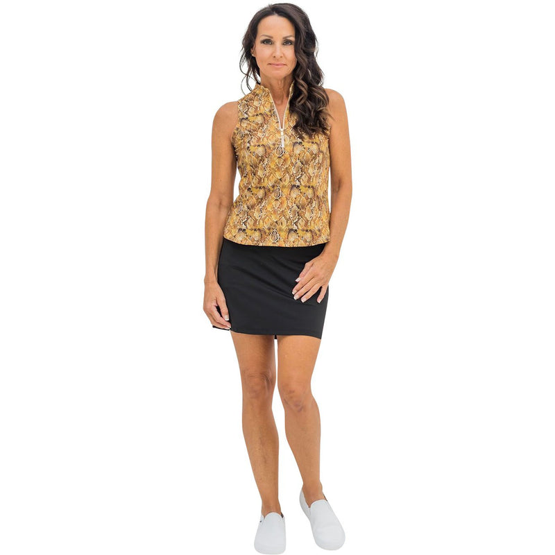 Course-to-Cocktails Sleeveless Top (Gold Snake)