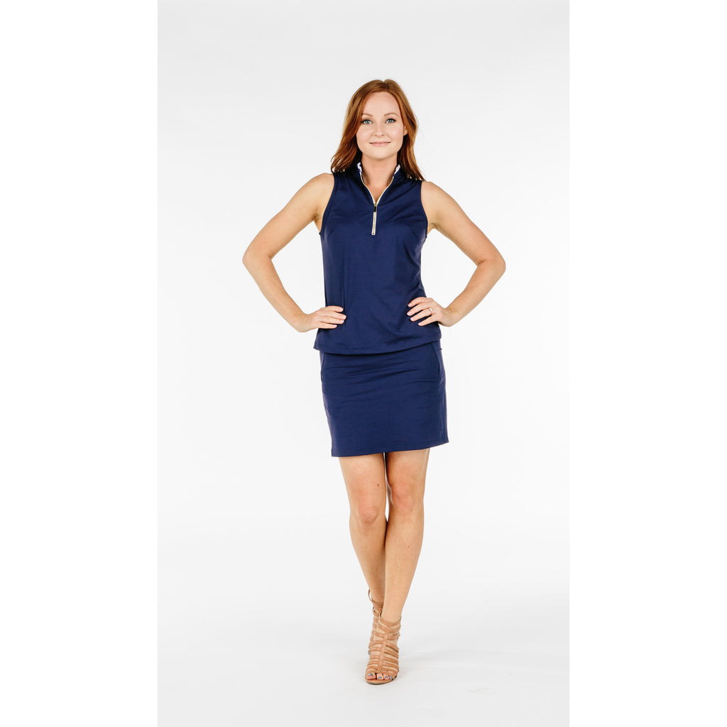Course-to-Cocktails Top (Navy)